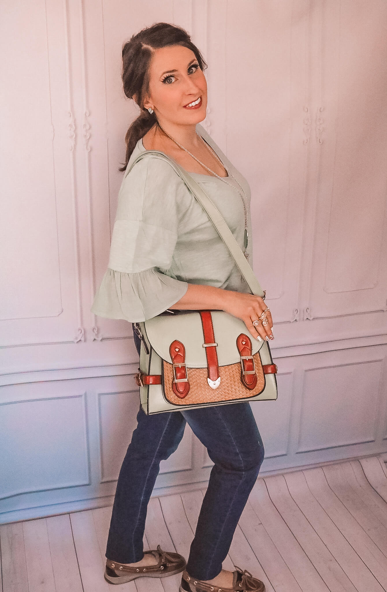 Mint Green Satchel Bag