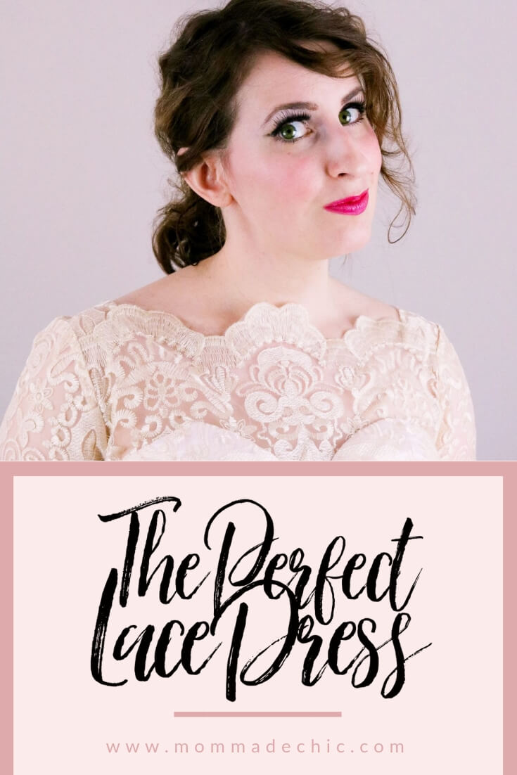 1950's style lace cocktail dress