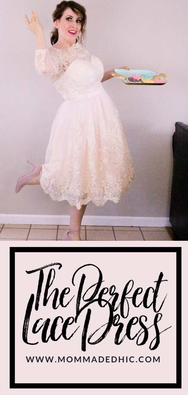 The Perfect Blush Lace Dress