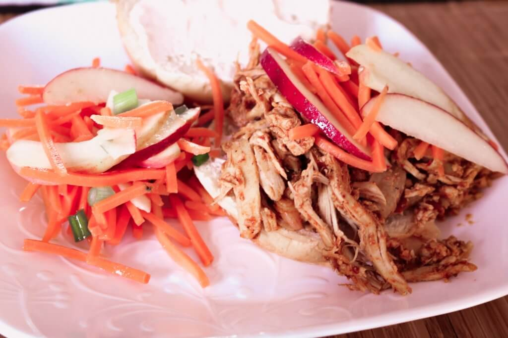 Pulled Pork Sandwiches with Apple Relish