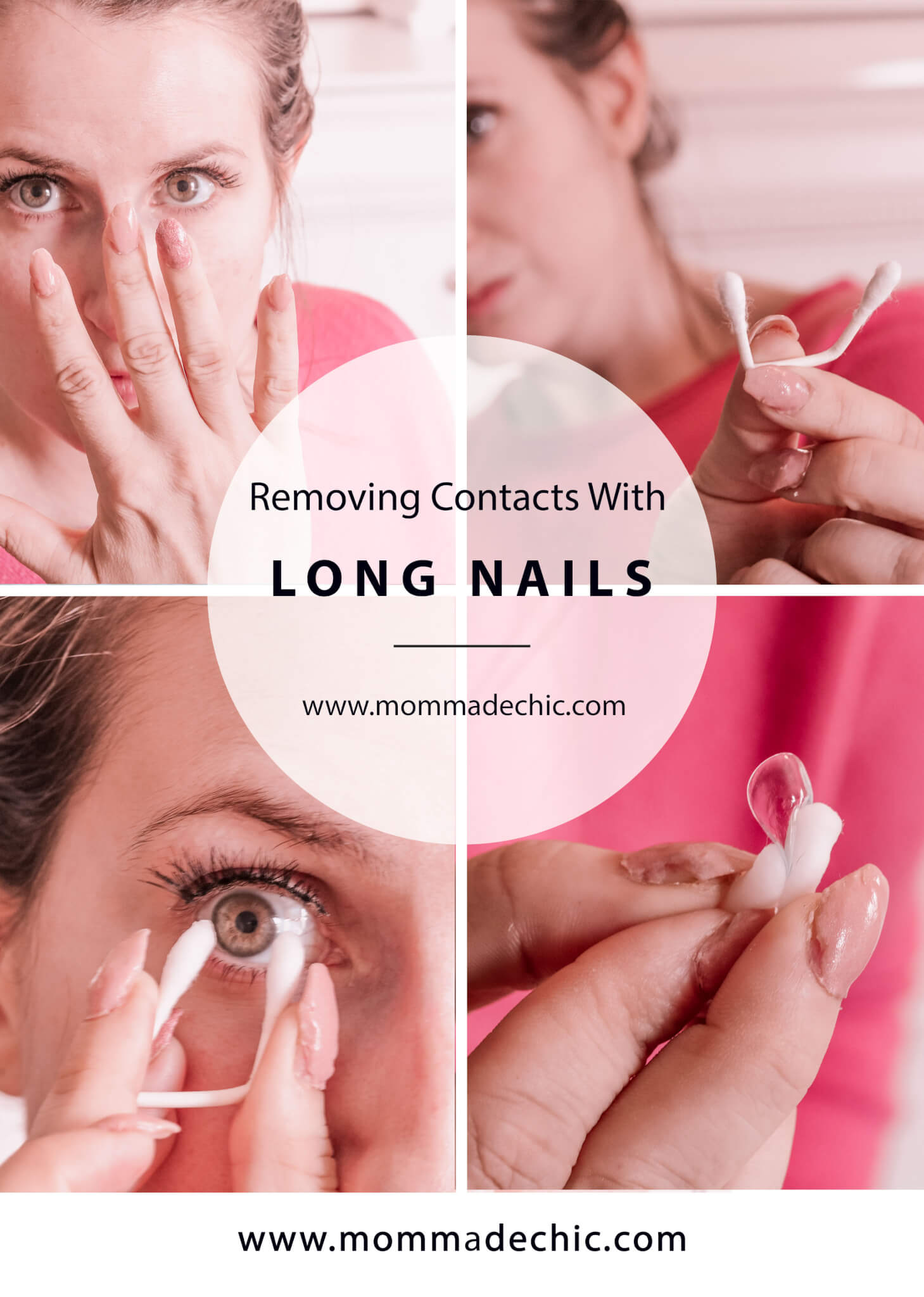 Removing Contacts With Acrylic Nails