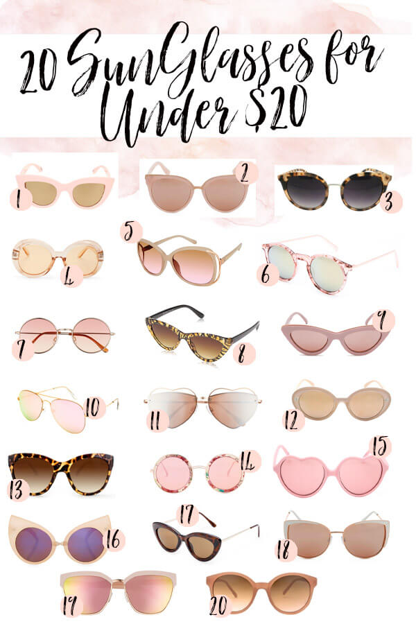 20 Pink Sunglasses for Women