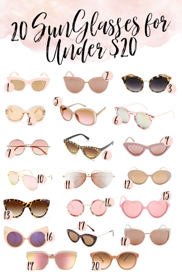 20 Chic and Cheap Sunglasses