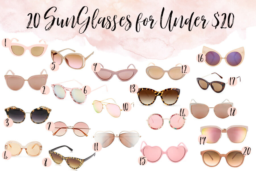 Pink Sunglasses for Under $20