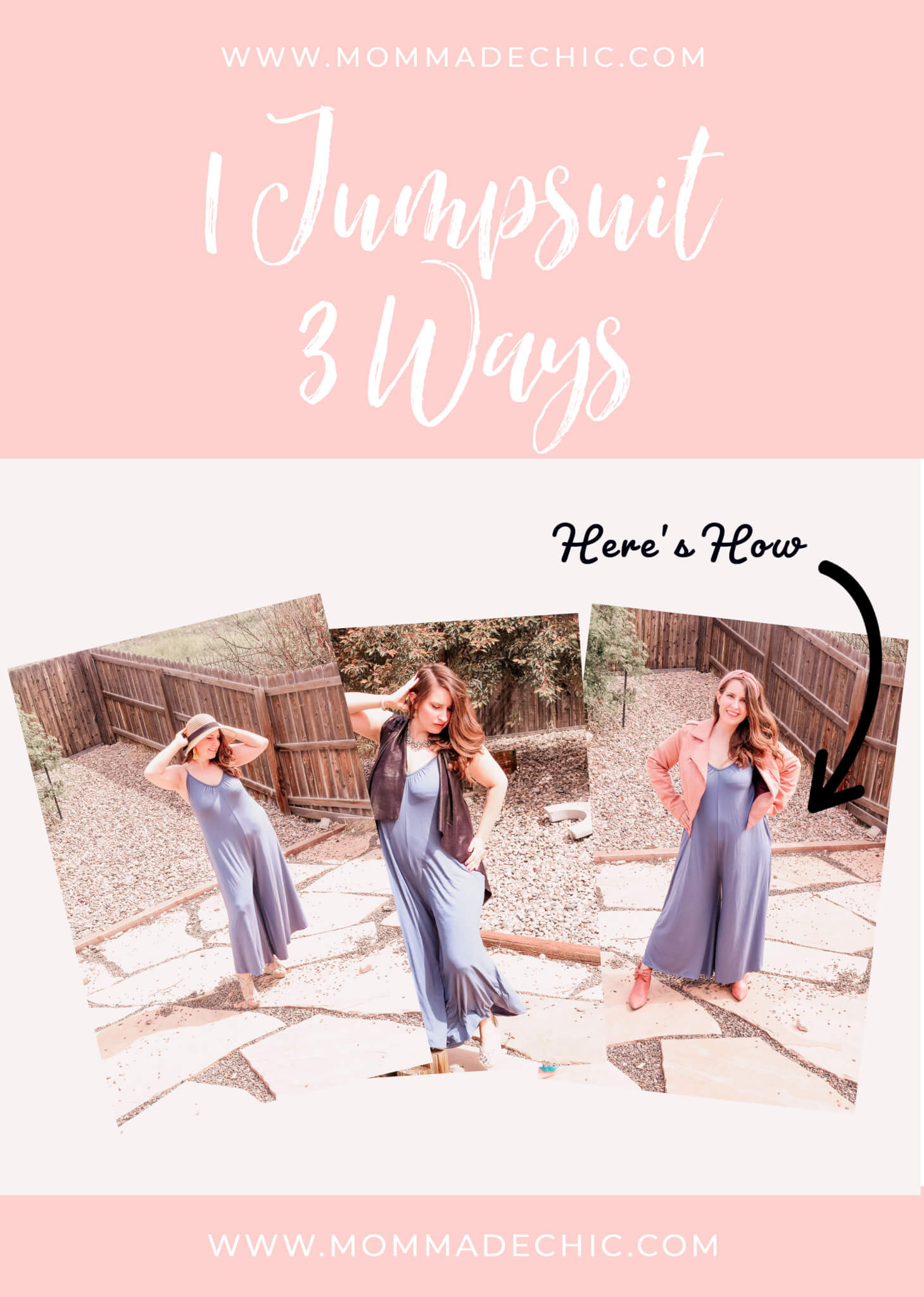 1 Jumpsuit Three Ways