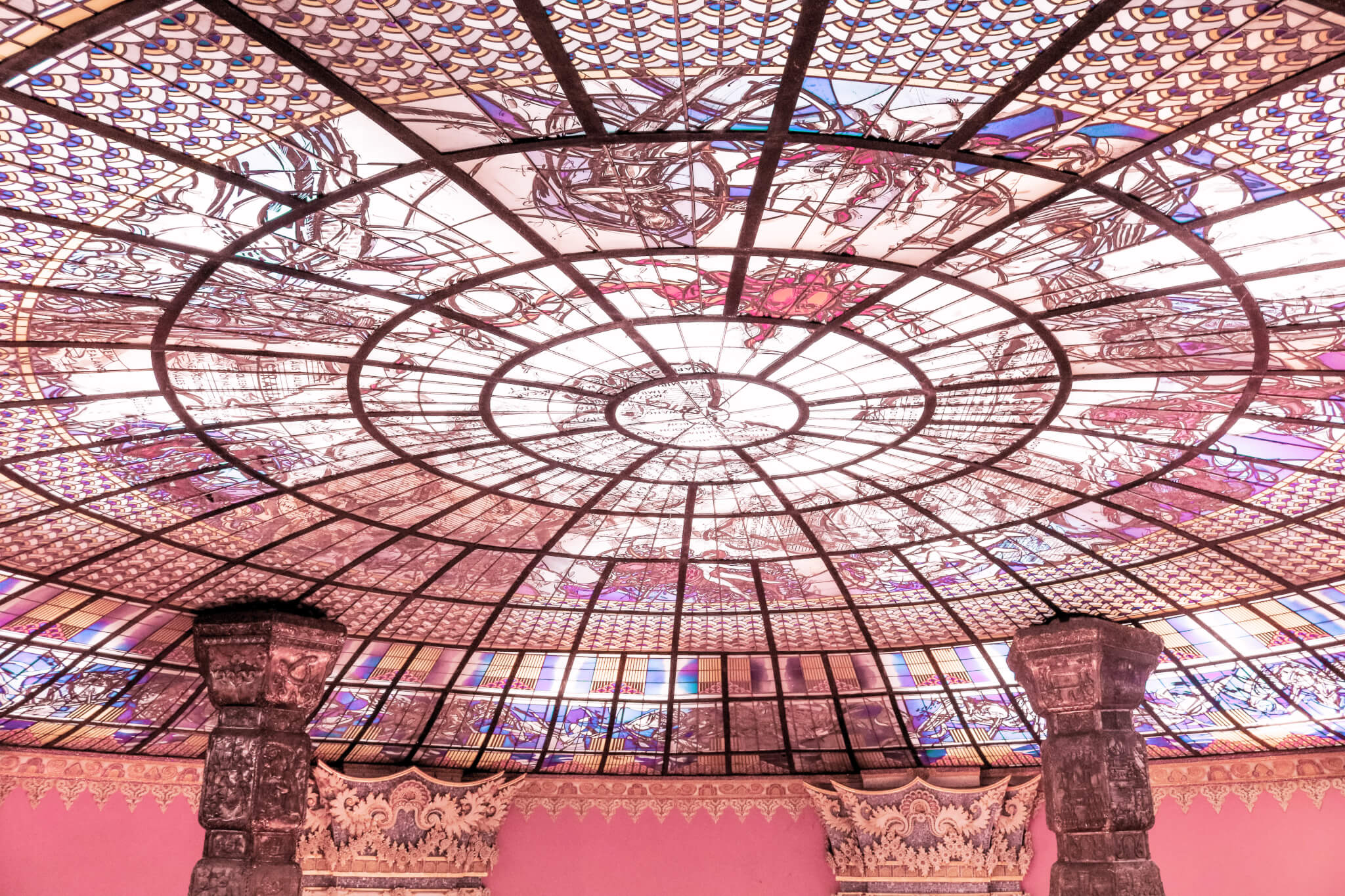Stained Glass Ceiling Erawan Museum