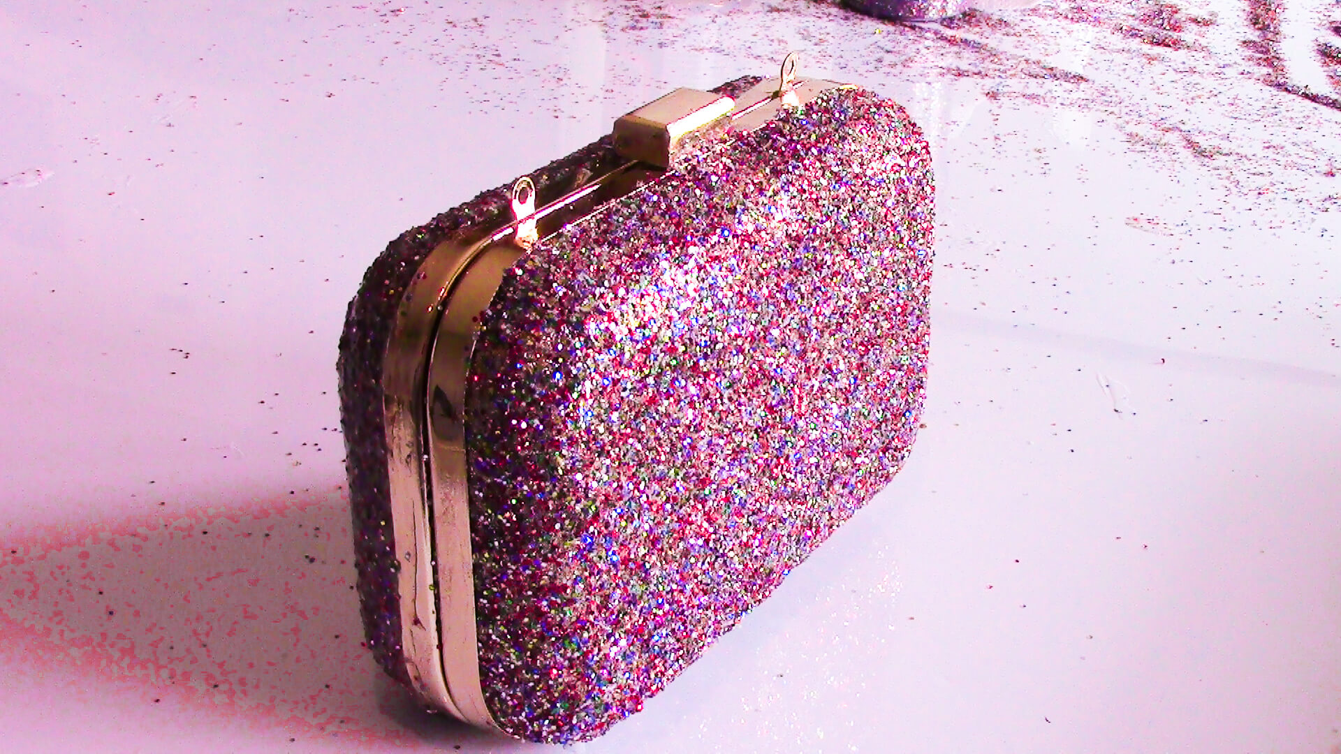 Glue Glitter to Purse