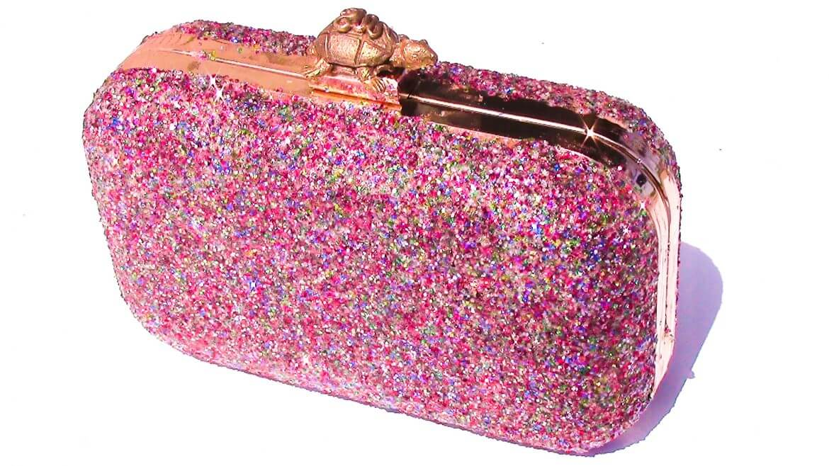 Kate Spade Inspired DIY Glitter Clutch